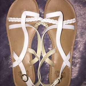 White Strappy Sandals!